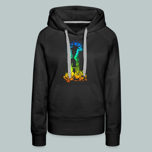 SIDESHOW TERRY IN COLOUR - Women's Premium Hoodie