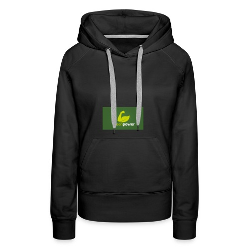 Green Power fitness logo - Women's Premium Hoodie