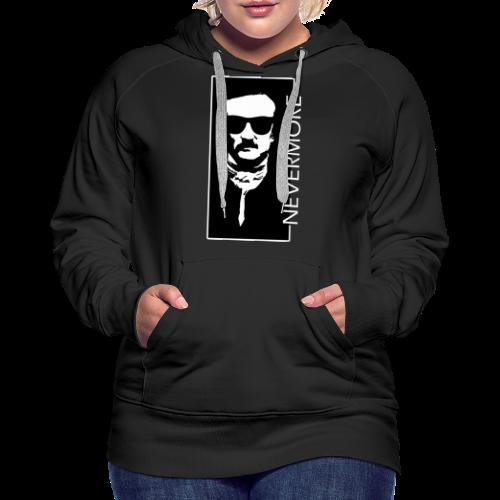 Dark Visions - Edgar Allan Poe Hipster Portrait 5 - Frauen Premium Hoodie