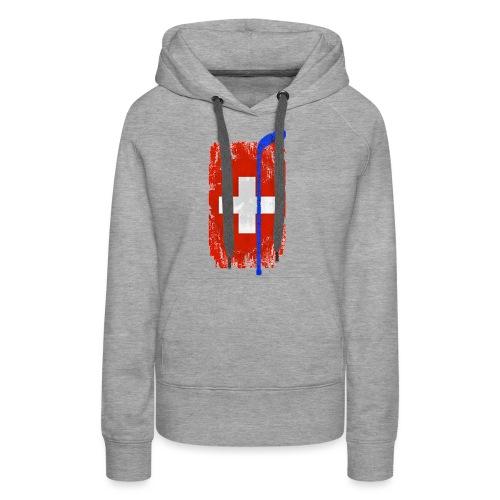 Schweizer Flagge Hockey - Frauen Premium Hoodie