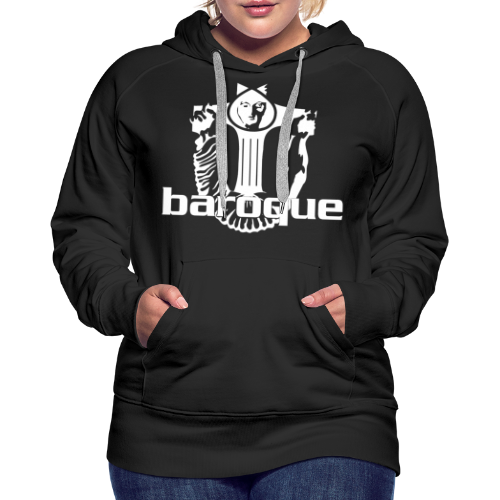 Baroque Records Logo Black - Frauen Premium Hoodie