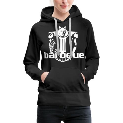 Baroque Records Logo Black - Frauen Premium Hoodie
