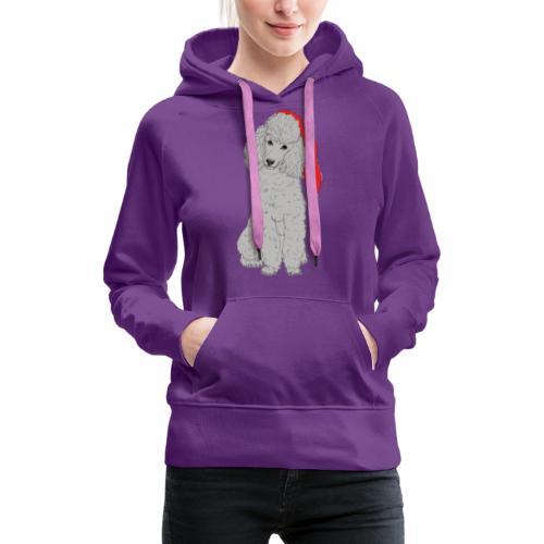 Poodle toy G - christmas - Dame Premium hættetrøje