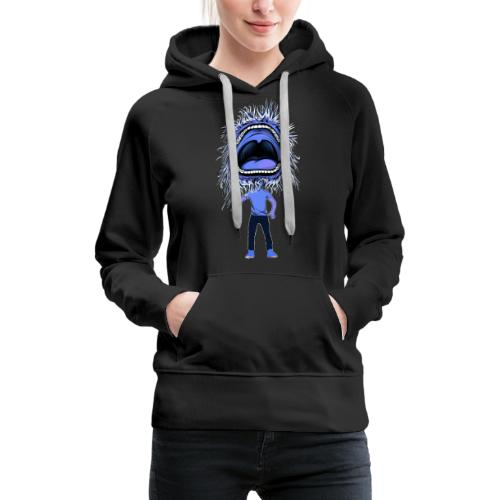 The dancing mouth - Sweat-shirt à capuche Premium pour femmes