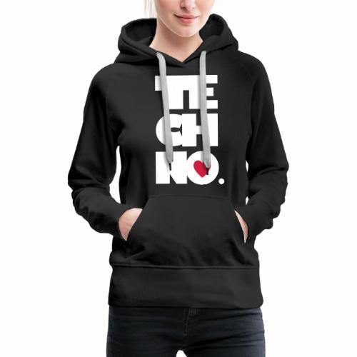 Techno Herz - Frauen Premium Hoodie