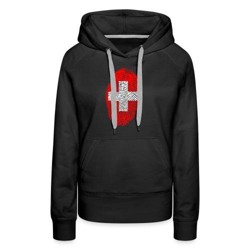 T-shirt imprimé drapeau suisse - Sweat-shirt à capuche Premium pour femmes