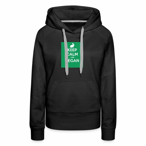 keep calm i am vegan 3 - Sweat-shirt à capuche Premium pour femmes
