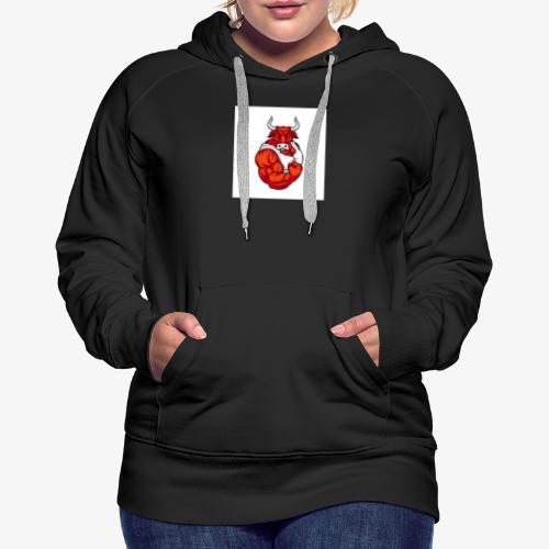 Bull taureau rouge red - Sweat-shirt à capuche Premium pour femmes
