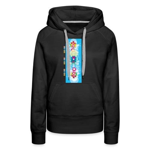 melange color - Sweat-shirt à capuche Premium pour femmes