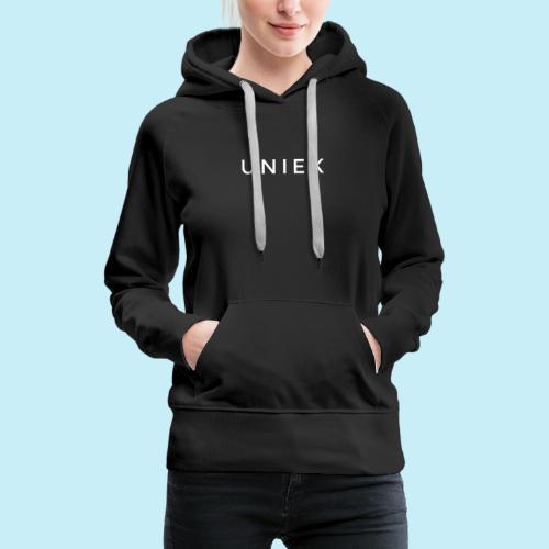 unique - Sweat-shirt à capuche Premium pour femmes