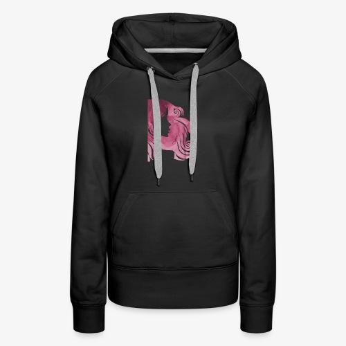 pink-930902_960_720 - Sweat-shirt à capuche Premium pour femmes