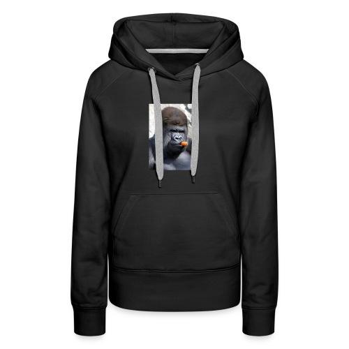 singe - Sweat-shirt à capuche Premium pour femmes