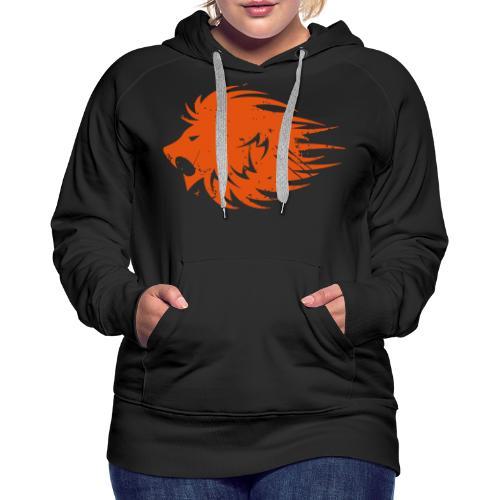 MWB Print Lion Orange - Women's Premium Hoodie