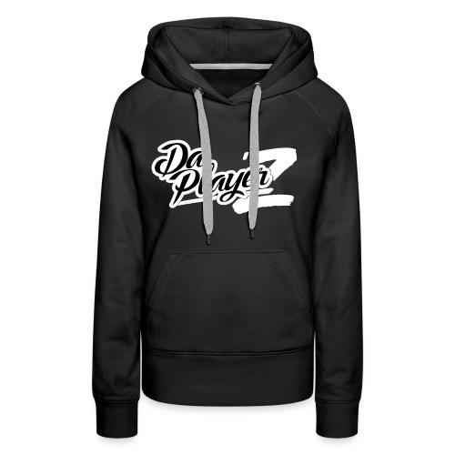 Daplayerz logo BLANC - Sweat-shirt à capuche Premium pour femmes