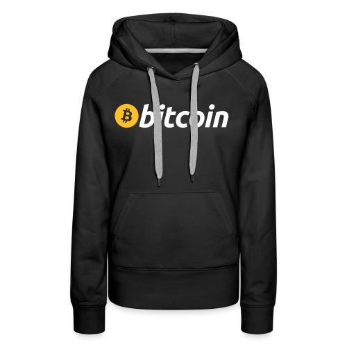 Bitcoin Logo mit Schrift - Frauen Premium Hoodie
