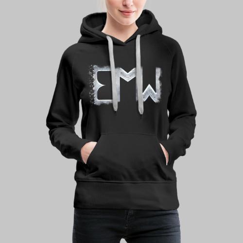 EMW Logo White Cut - Women's Premium Hoodie