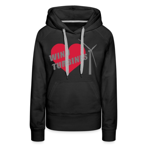 wind turbine grey - Women's Premium Hoodie