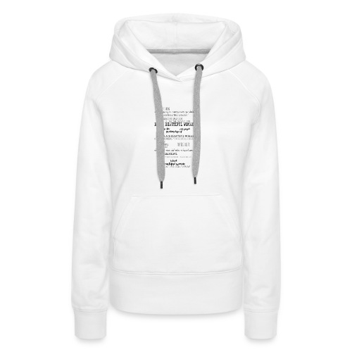 Beautiful Black Woman - Women's Premium Hoodie