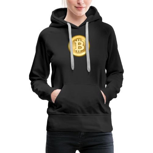 Bitcoin Gold - Felpa con cappuccio premium da donna