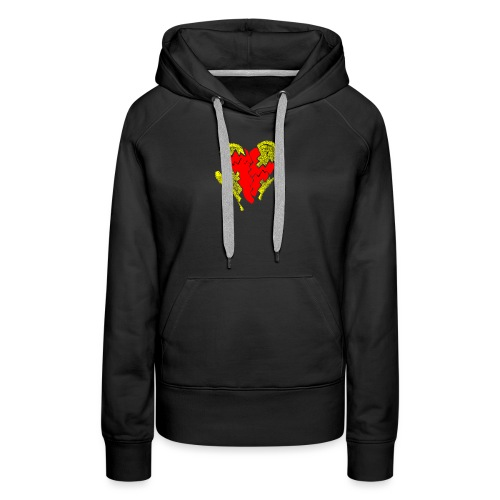 peeled heart (I saw) - Women's Premium Hoodie