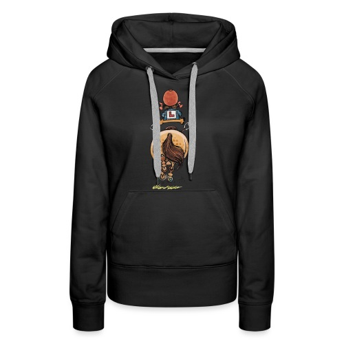 Thelwell Funny Riding Beginner Illustration - Women's Premium Hoodie