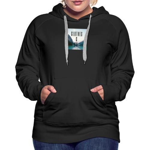 Clothes & Co. - Sweat-shirt à capuche Premium pour femmes