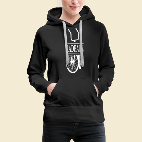 Radball   Retro White - Frauen Premium Hoodie