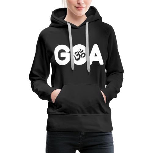 GOA LOGO WHITE - Frauen Premium Hoodie