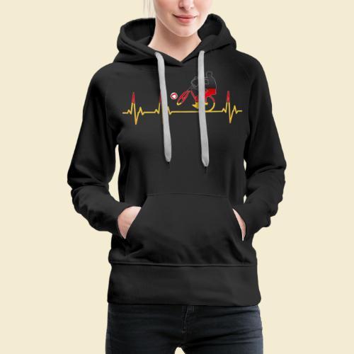 Radball | Cycleball Heart Monitor Germany - Frauen Premium Hoodie