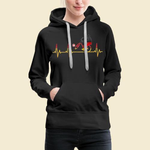 Radball   Cycleball Heart Monitor Germany - Frauen Premium Hoodie