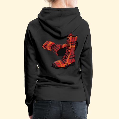 Rock and Shoes - Rock'n'll Shoes - Sweat-shirt à capuche Premium pour femmes