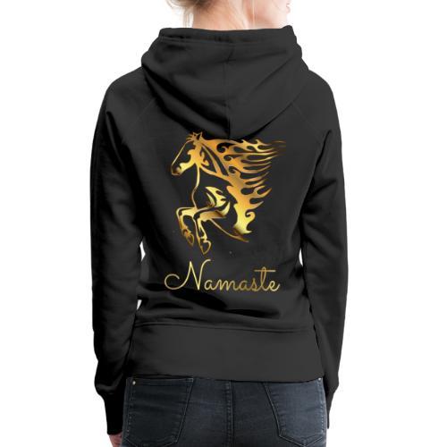 Namaste Horse On Fire - Frauen Premium Hoodie