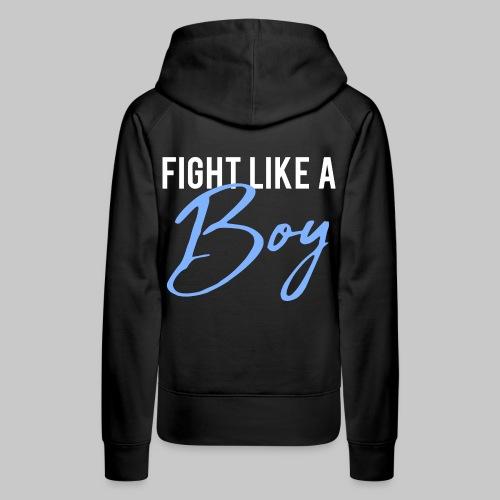 2reborn Fight like a Boy Junge Menpower Hero Gym S - Frauen Premium Hoodie