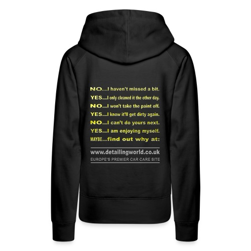 dw t shirt questions back - Women's Premium Hoodie