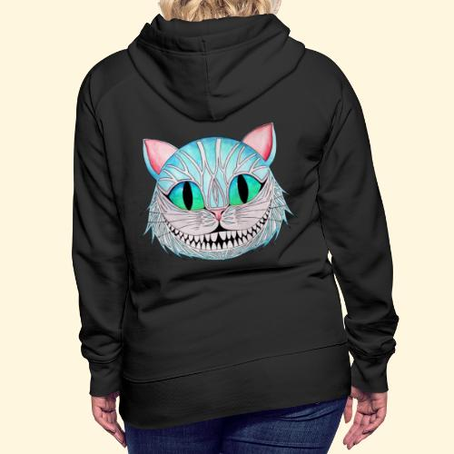 Le Chat de Cheshire - Sweat-shirt à capuche Premium pour femmes