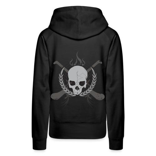 skullgreyblack - Women's Premium Hoodie