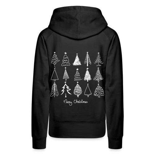 Merry Christmas Sapins de Noël - Sweat-shirt à capuche Premium pour femmes
