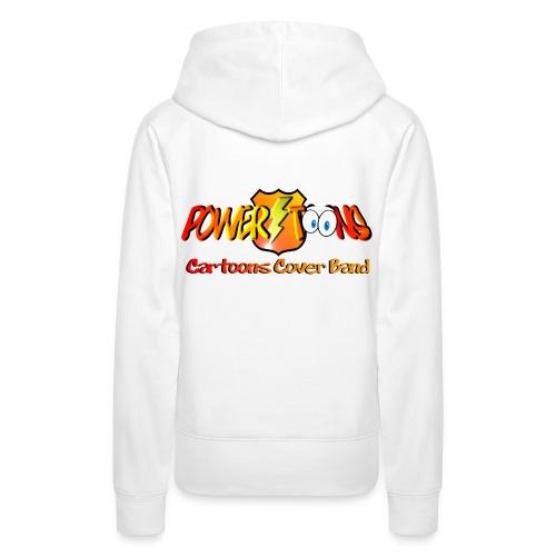 PowertOOns Logo Ufficiale - Felpa con cappuccio premium da donna