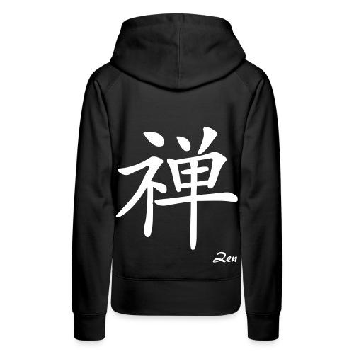 signe chinois zen - Sweat-shirt à capuche Premium pour femmes