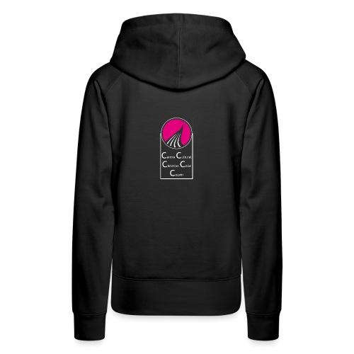 ROND CARRE VERTICAL MAGENTA - Sweat-shirt à capuche Premium pour femmes