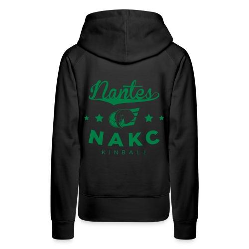 NantesNakc - Sweat-shirt à capuche Premium pour femmes