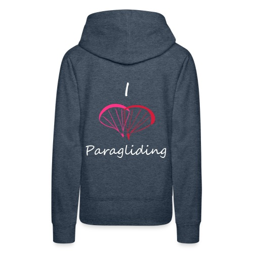 I Love Paragliding V2 - Women's Premium Hoodie