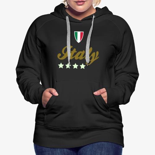 Gruppo di stelle Italia - Felpa con cappuccio premium da donna