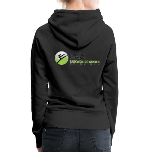 logo breit mit glow - Frauen Premium Hoodie