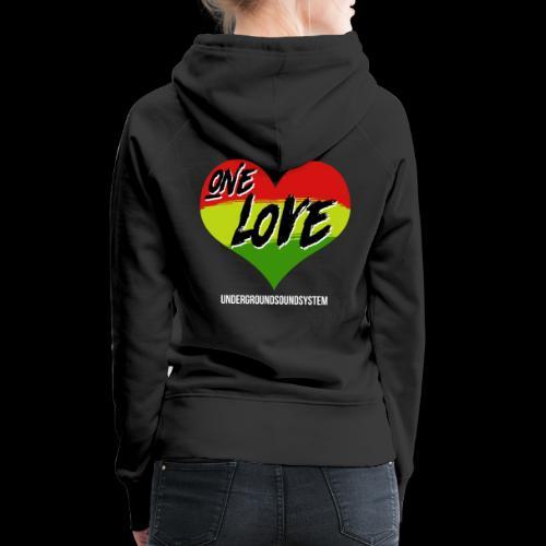 ONE LOVE - HEART - Frauen Premium Hoodie