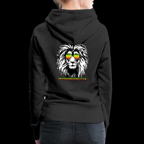 RASTA REGGAE LION - Frauen Premium Hoodie