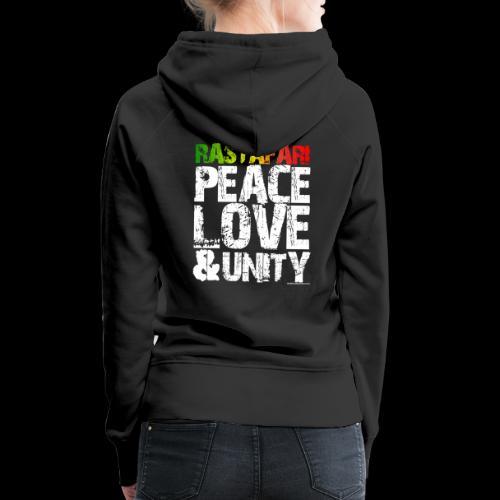 RASTAFARI - PEACE LOVE & UNITY - Frauen Premium Hoodie