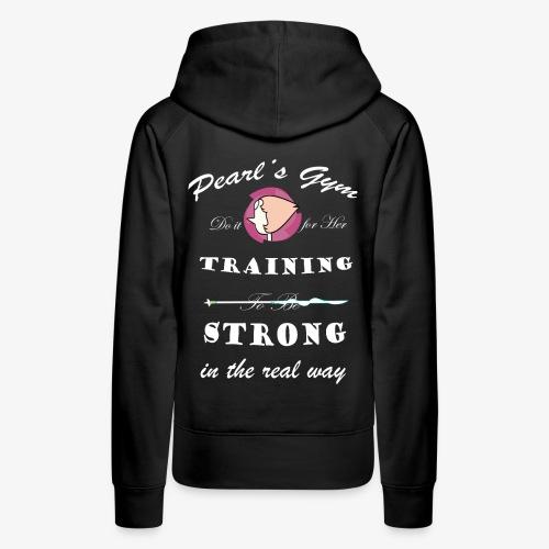 Strong in the Real Way - Felpa con cappuccio premium da donna