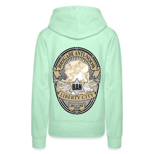user1798 1247605773 Badge 2000 in Color322223 png - Sweat-shirt à capuche Premium pour femmes
