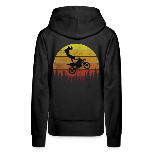 Motocross Motocross Freestyle - Vintage Retro - Frauen Premium Hoodie